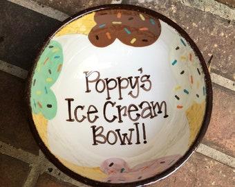 Personalized Ice Cream Bowl Mu66 Advancedmassagebysara