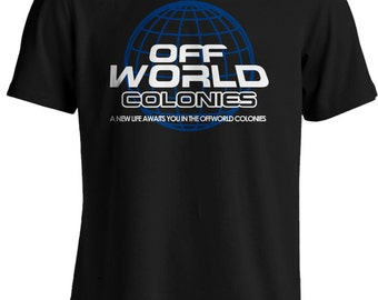 Blade Runner: A New Life Awaits You in the Offworld Colonies T-shirt