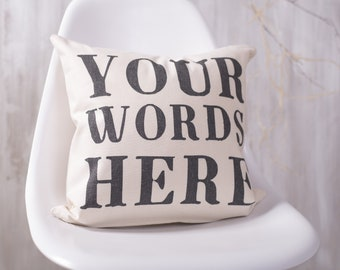 Personalised Quote Cushion Pillow