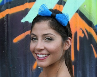 Blue Bow Headband Inspired By Hello Kitty