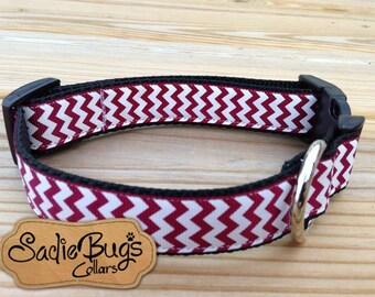 Alabama Crimson Tide Chevron Dog Collar - Roll Tide
