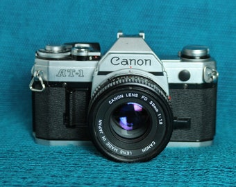 Canon AT-1 35mm Camera-with 50mm FD lens