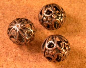 red copper filigree - 18 mm - PE209 10 beads