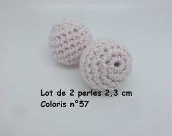 Made Mercerized cotton crochet (2,3 cm) colour No. 57 beads