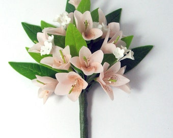Handmade Miniature Polymer Clay Flowers Rhododendron Bunch for Bouquet and Handmade Gifts