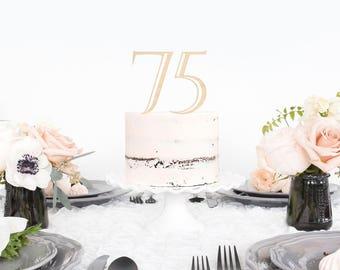 75th birthday topper Etsy