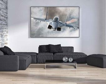 Airplane Decor, Airplane Wall Art, Aviation Art, Airplane Prints, Pilot Gifts, Airplane Photo, Airshow, Polish Airforce MiG-29 Fulcrum
