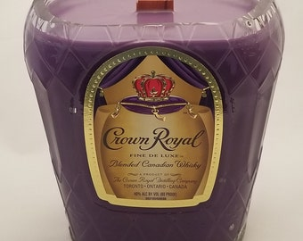 Crown Royal Whiskey Recycled bottle candle