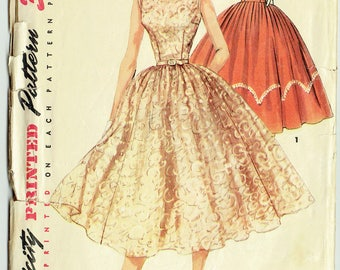 Vintage Sewing Pattern Simplicity 1158 Party Dress 1950s 29 Bust - With FREE Pattern Grading E-Book Included