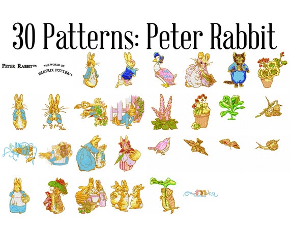 Beatrix Potter Peter Rabbit Machine Embroidery Patterns Peter