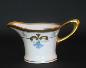 Antique Hand Painted Creamer by Pickard Art Nouveau