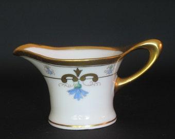 Antique peint main Creamer par Pickard Art Nouveau