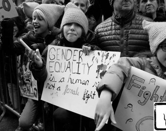 B&W #Photograph, #feminist, #whyImarch, haiku, fine art, photo print, wall art, home decor, protest, she persisted, resist, Gender Equality