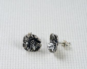 Silver Flower Earrings |PazCreationsJewelry| - Silver Studs - Flower Earrings - Silver Stud Flowers - Gift for her -