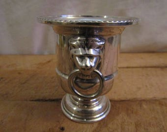 Ice Bucket, Miniature, Viners of Sheffield, Silver Plated, Made in England, Lined, Kitchen ware, Barware, Drinks, Vintage