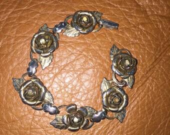 Vintage Rose link Bracelet