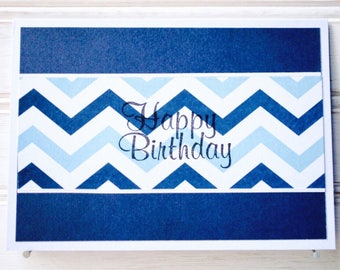 MEN'S BIRTHDAY Greeting Card - Unique Handmade Men's Birthday Card / Blank Greeting Card / One-of-a-kind Homemade Card / Card for Him