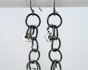Hoopla Earrings in silver - handmade in NYC