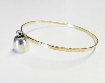 gold 3mm bangle bracelet, hammered gold bangle,rose gold bangle,3mm gold hammered bangle bracelet,bangle bracelets,gold filled bangle