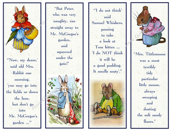 Items Similar To Printable Beatrix Potter Character