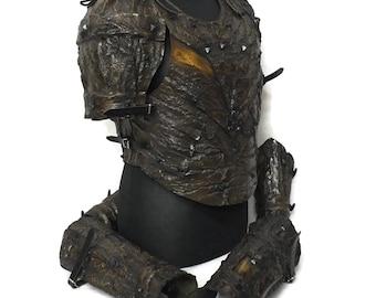 Larp Armor, Bark Set, wood, wood elf armor, fantasy armor, cosplay armor