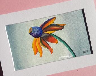 Flower watercolor - watercolor flower