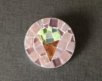 Ice cream brooch, handmade brooch, mosaic, jewelry, sweeties