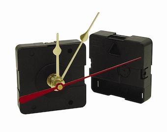 "Clock Movement ""AA"" Mini Quartz Movement with Hands and Hardware"
