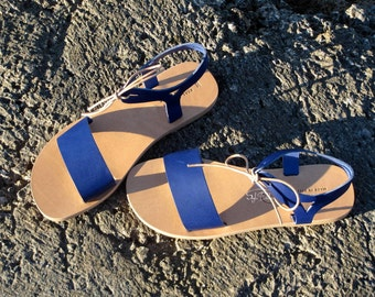 "Greek Leather sandals -Unisex greek sandals, authentic leather handmade sandals, stylish sandals ""Aegean"""