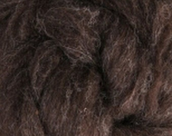 Dark Natural Corriedale Wool Roving  Undyed One Ounce for Felting and Spinning
