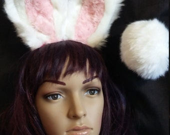 Bunny ears and tail, Black Bunny ears and tail