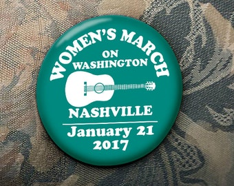 WOMEN'S MARCH on Washington Nashville supporters January 21 2017 election trump clinton teal