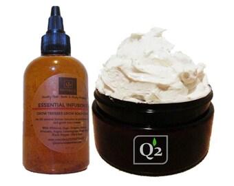 Grow Kinky Curly Bundle Hair Growth-Whipped Hair Butter-Hair Oil-Hot Oil Treatment-Natural Hair Kit-Natural Hair Care