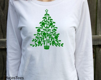 Christmas Tree Shirt, Womens Long Sleeve