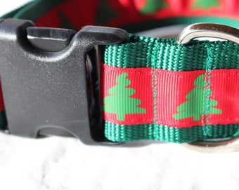 """1.5"""" Christmas Tree Collar with Side Release Buckle (D-Ring Martingale Available)"""