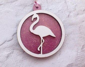 Flamingo bauble- Christmas decoration