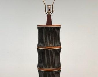 Martz | Large Ceramic Table Lamp by Marshall Studios | Mid Century