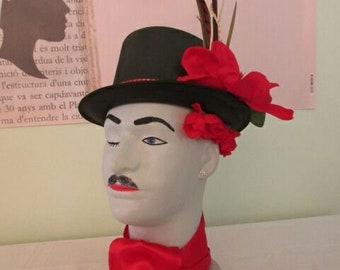 Dapper Dan , Flowering Heads, styrofoam mannequin head, entryway statue,unusual gift, art and accesorries
