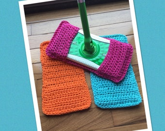 Crocheted swiffer covers set of 3