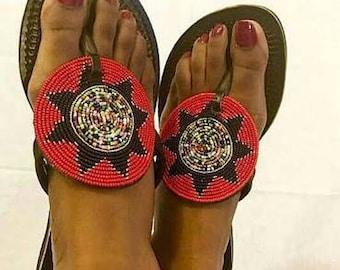Maasai Red Sun Sandals
