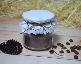 """Аromatiс candle in a jar """"cacao"""""""