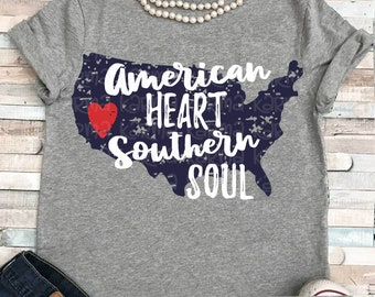 American svg, 4th of july svg, American heart southern soul svg, dxf, EPS, distressed svg, 4th of july svg, 4th svg, militARY svg, png,
