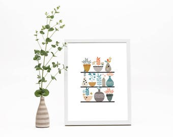 Fauna & Succulents Print