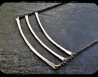 Sterling Ladder Necklace