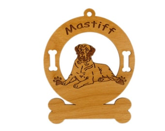 3546 Mastiff Laying Down Personalized Dog Ornament