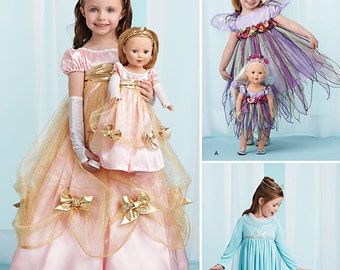 """Simplicity Sewing Pattern 1305 Child's Costumes and Costumes for 18"""" Doll"""