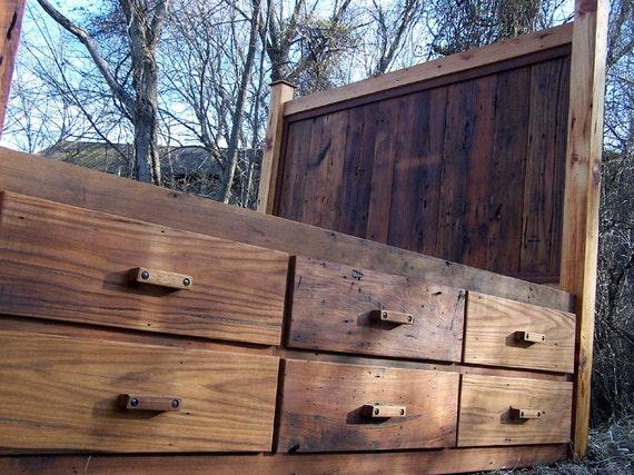 Natural Pine  Drawer Platform Bed