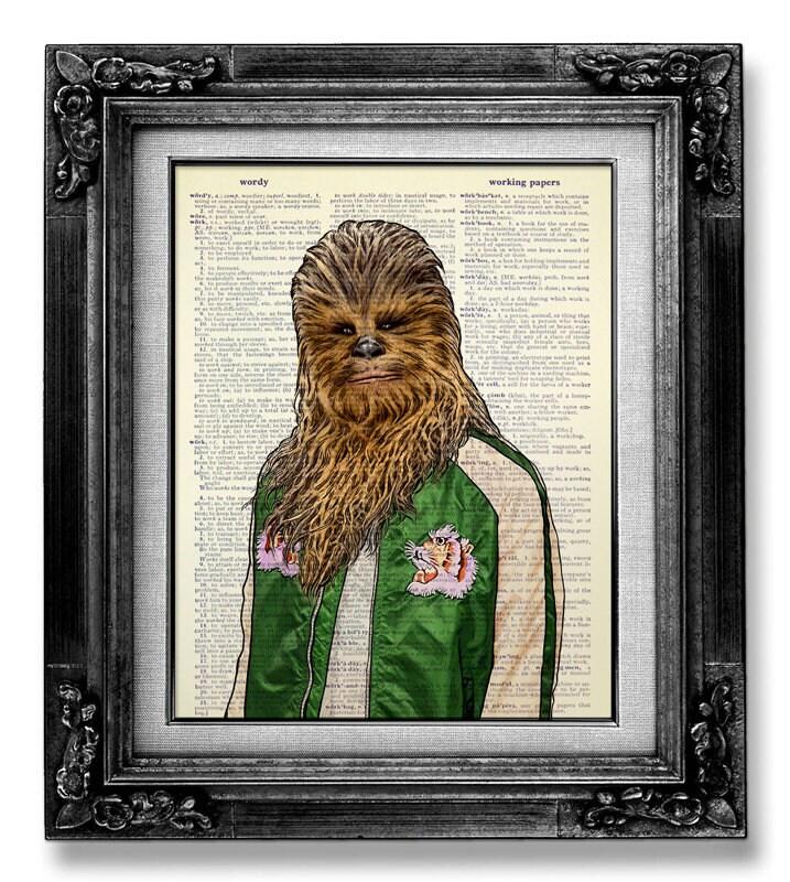 Chewbacca Poster Chewbacca Print Chewbacca Art Chewbacca