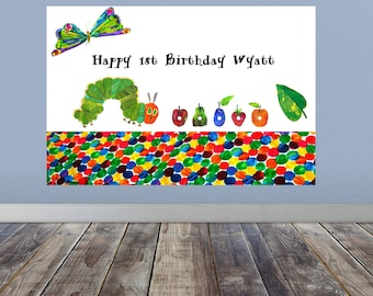 The Very Hungry Caterpillar Party Banner, The Very Hungry Caterpillar Birthday Banner