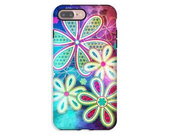 Floral iPhone 7 Plus Case, watercolor iPhone 8 case/8 Plus case, iPhone 7 case, iPhone X case, iPhone 6s/6s Plus, iPhone 6/ 6 Plus